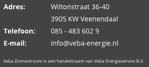 Contactgegevens - Veba Energieservice